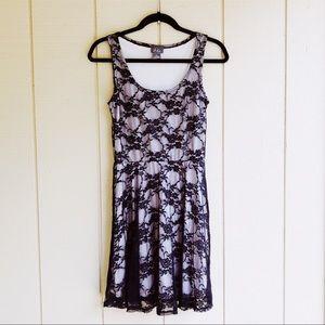 NWOT Black Lace Mini Dress